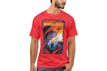 The_Mandalorian_Through_Red_Flames_T-Shirt