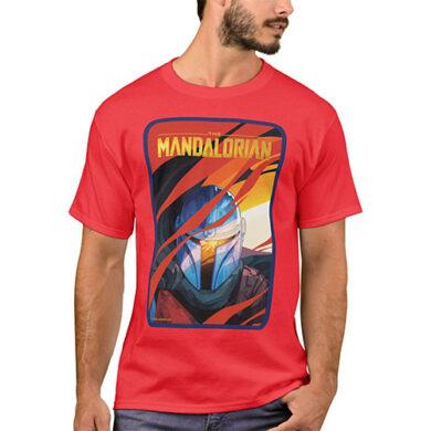 The_Mandalorian_Through_Red_Flames_T-Shirt