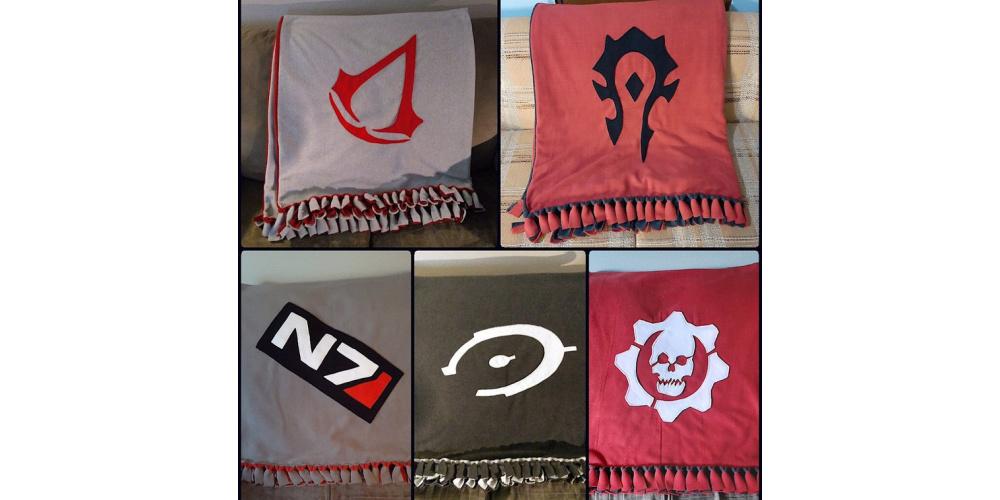 Video_Game_Fleece_Blankets_Halo_World_of_Warcraft_Gears_of_War_Mass_Effect