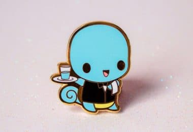 Pokemon: Waiter Squirtle Hard Enamel Pin