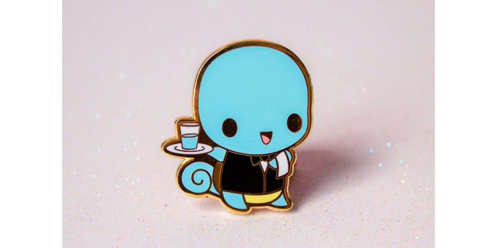 Waiter Squirtle Enamel Pin