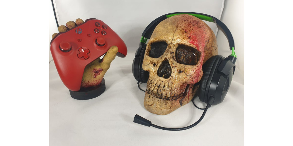 Zombie_Gaming_Controller_Headset_Stand