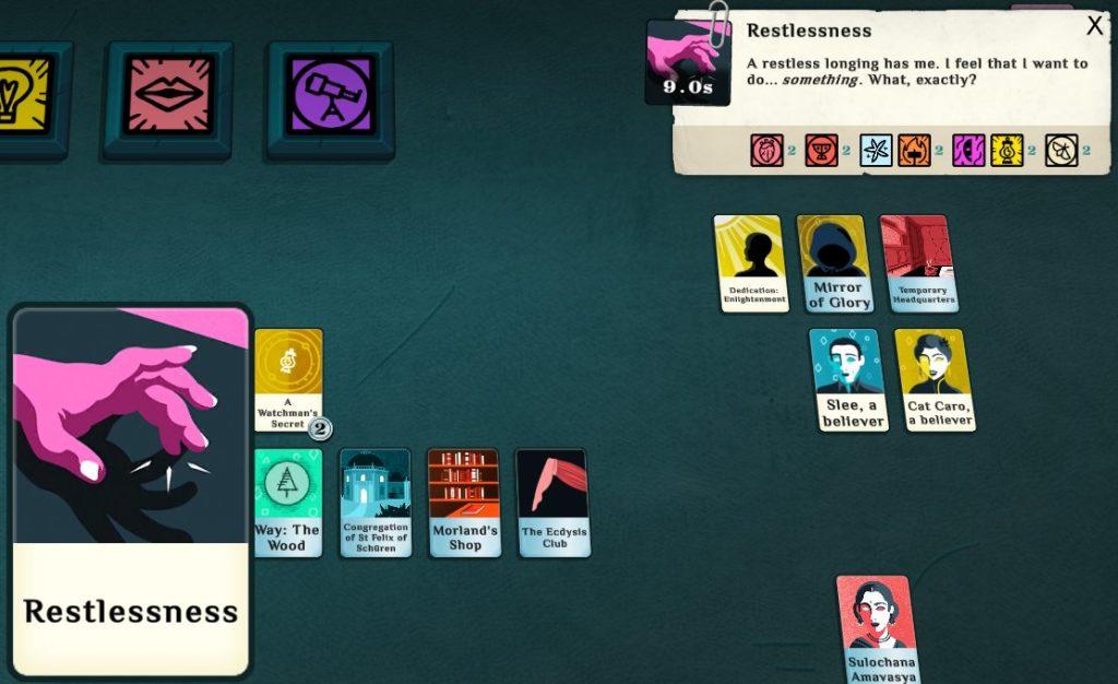 Cultist_Simulator_gameplay_restlessness