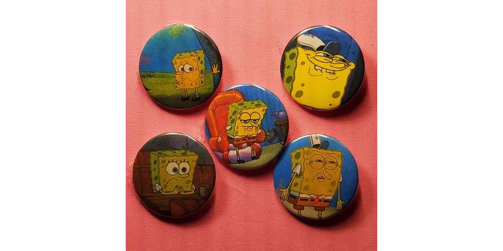 Spongebob_Pinback_Button_Set
