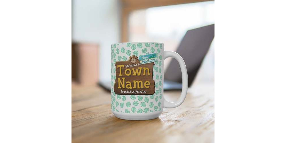 Animal_crossing_Town_mug_personalized