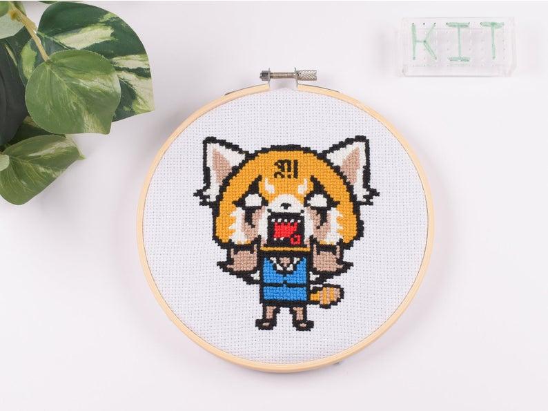 Aggretsuko_Cross_Stitch_Pattern