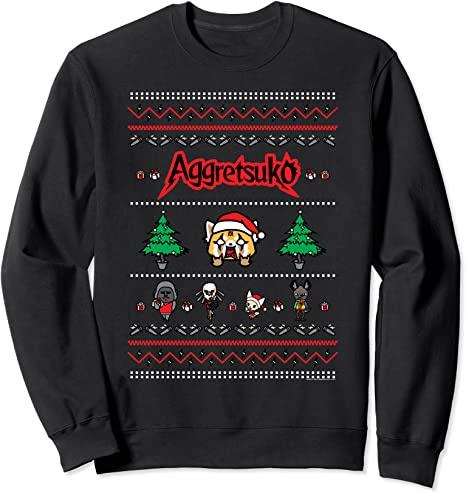 Christmas-Sweater-Style_Sweatshirt_Aggretsuko