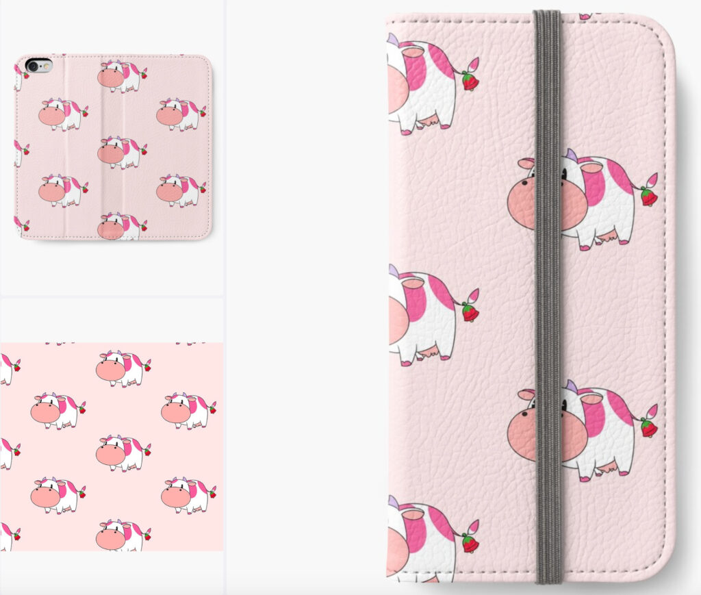 Harvest_Moon_Strawberry_Cow_iPhone_Wallet