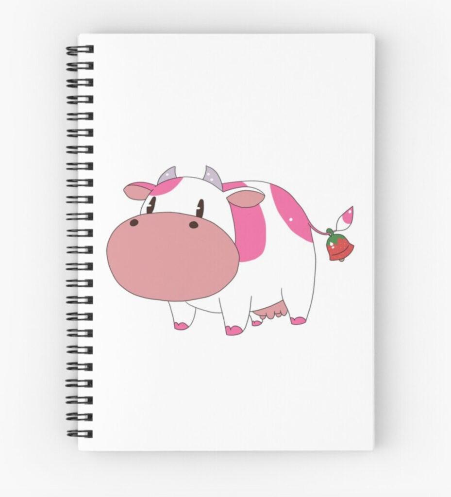 Harvest_Moon_Strawberry_Milkshake_Notebook