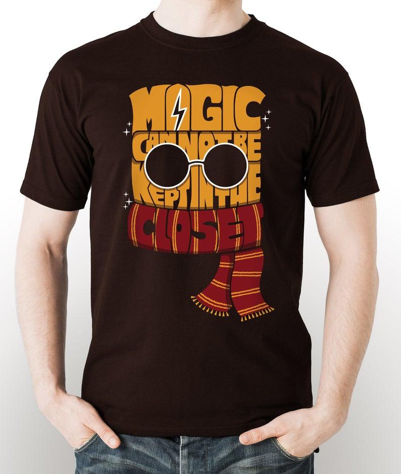 No_Magic_in_the_Closet_Harry_Potter_T-Shirt